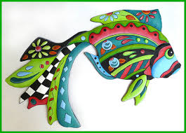 tropical metal wall decor handcrafted
