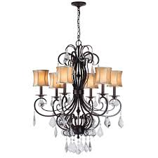 outdoor fascinating world imports chandelier 16 annelise 6 light bronze with fabric shades for most up