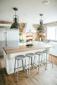 Industrial Kitchen With Exposed Brick Wall Decor