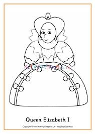 More on queen elizabeth i: Queen Elizabeth I Colouring Page