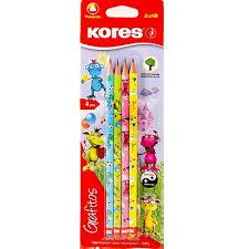 Набор <b>карандашей чернографитных</b> 4 шт. <b>Kores</b> 6570274 ...