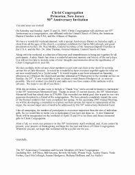 Celebration Letter Sample Letter Of Invitation For Anniversary Celebration Archives 12