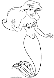 Small Picture Princess Ariel Coloring Pages EasyArielPrintable Coloring Pages