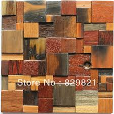 decorative wall tiles for living room. Modern Style Wood Mosaic Tiles 3D Wall Panel Background Backsplash TV Kitchen Puzzle Home Decoration DHL Free Shipping Decorative For Living Room
