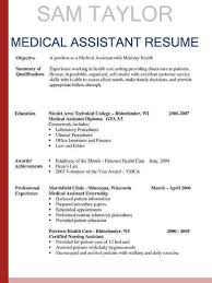 Medical Assistant Resume Objective Carinsurancequotes66 Info