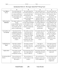 writing rubric essay th grade essay writing rubric