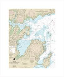 Nautical Charts New England Coast Salem Marblehead And Beverly Harbors Massachusetts