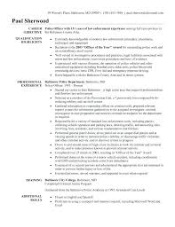 Free Resume Templates Microsoft Office Custom Police Officer Resume Templates Entry Level Police Officer Resume No
