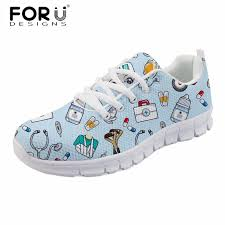 <b>FORUDESIGNS Fashion</b> Women Casual Flats Cute <b>Cartoon</b> Nurse ...