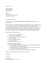Cover Letter Design I 130 And I 485 Cover Letter Sample For