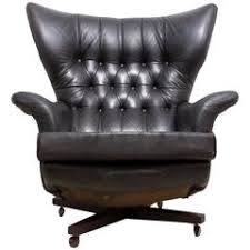 Mid-Century Full Leather G-Plan 6250 Chair
