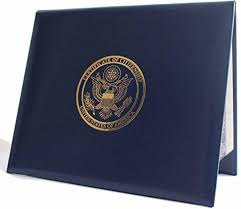 u s citizenship naturalization certificate holder padded cover sy leather