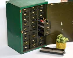 Green Steel ADDRESSOGRAPH Filing Cabinet: Large, Vintage Heavy ...