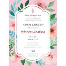 37 Naming Ceremony Invitations Psd Ai Free Premium