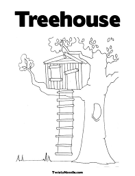 Small Picture Free Tree House Coloring Pages Coloring Home