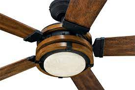 wood tone led ceiling fan with remote