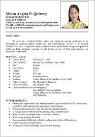Example Of Filipino Resume Format Filename Radio Merkezi
