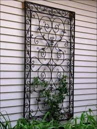 outdoor wall art for the garden decorative wrought iron on large metal patio wall art with mediterranean patios pergolas stucco terraces water fountains