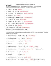 word equations chemical equations worksheet new printables types chemical reactions worksheet answers of chemical