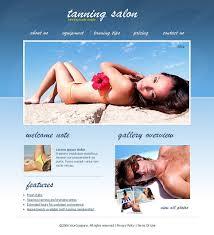 tanning salon flash template