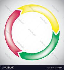 Colorful Circular Arrow Chart