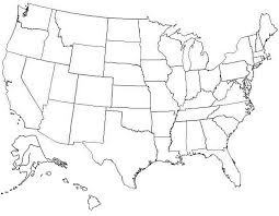 Us States Blank Map 48 States Map Us State Borders Printable Blank