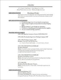 Resume Examples Resume Format Warehouse Worker