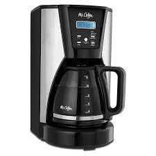De beste borden van mister coffee. Mr Coffee 12 Cup Programmable Coffee Maker In Chrome Black Bed Bath Beyond