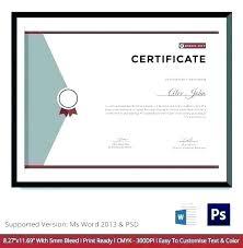 Athletic Certificate Template Sports Award Achievement