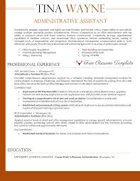 Executive Assistant Resume Templates Cool Administrative Assistant Resume Template ⋆ Resume Templates