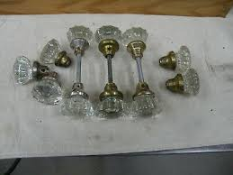 vintage glass door knobs 12 point