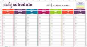 Weekly Calendar With Time Slots Template Weekly Calendar Template With Time Slots Google Search For The