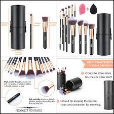 dels about morphe set 12 piece black and white makeup travel set pop art brush sponge new