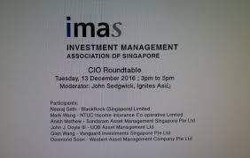imas cio roundtable 13 december 2016 2016 investment management
