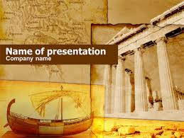 Greek Templates Classic Ancient Greece Presentation Template For Powerpoint And