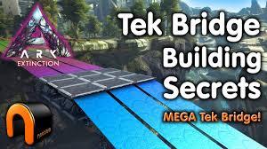 Ark Bridge Design Ark Extinction Tek Bridge Building Secrets Mega Bridge