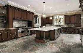 best tile flooring flooring ideas tile kitchen floor ideas with large white granite kitchen island under