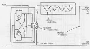 programme against african trypanosomosis paat 18 typical circuit diagram of continous ht high tension unit for electric net oscillator and voltage multiplier boxed for clarity