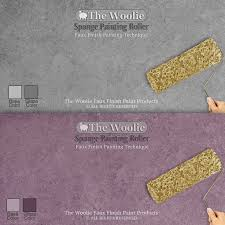 sponge painting original faux finish wall technique paint roller by the woolie