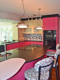 Pink Kitchen Kitchen Cabinets