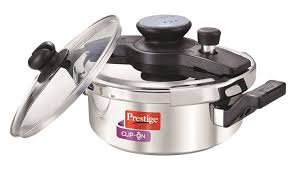 Prestige Kitchen Appliances Buy Prestige Clip On Stainless Steel Pressure Cooker With Glass