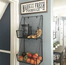 use wire baskets for storage