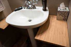 add counter space to small bathroom with this