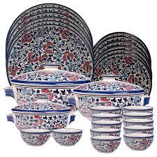 porcelain dinner plates online india. buy craftgahr: dinnerware sets dinner set 27 pcs stoneware ceramic  100% microwave \u0026 food safe  6 plates, quarter 12 veg bowls, porcelain plates online india