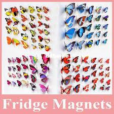 Hot Sell <b>Beautiful Decorative</b> Artificial <b>Butterfly</b> Magnet For Fridge ...