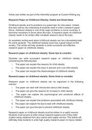 Childhood Essays Examples Of Argumentative Essays On Childhood Obesity Nonlogic