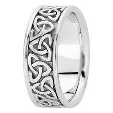 mens celtic knot wedding bands. 14k white gold trinity celtic knot wedding ring mens bands s
