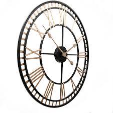 black london metal wall clock