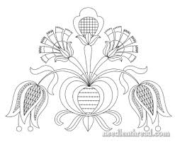 Free Hand Embroidery Patterns Best Free Hand Embroidery Pattern Tulips Carnations NeedlenThread