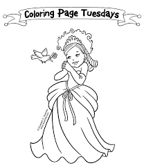 The Little Princess Coloring Pages To Printable